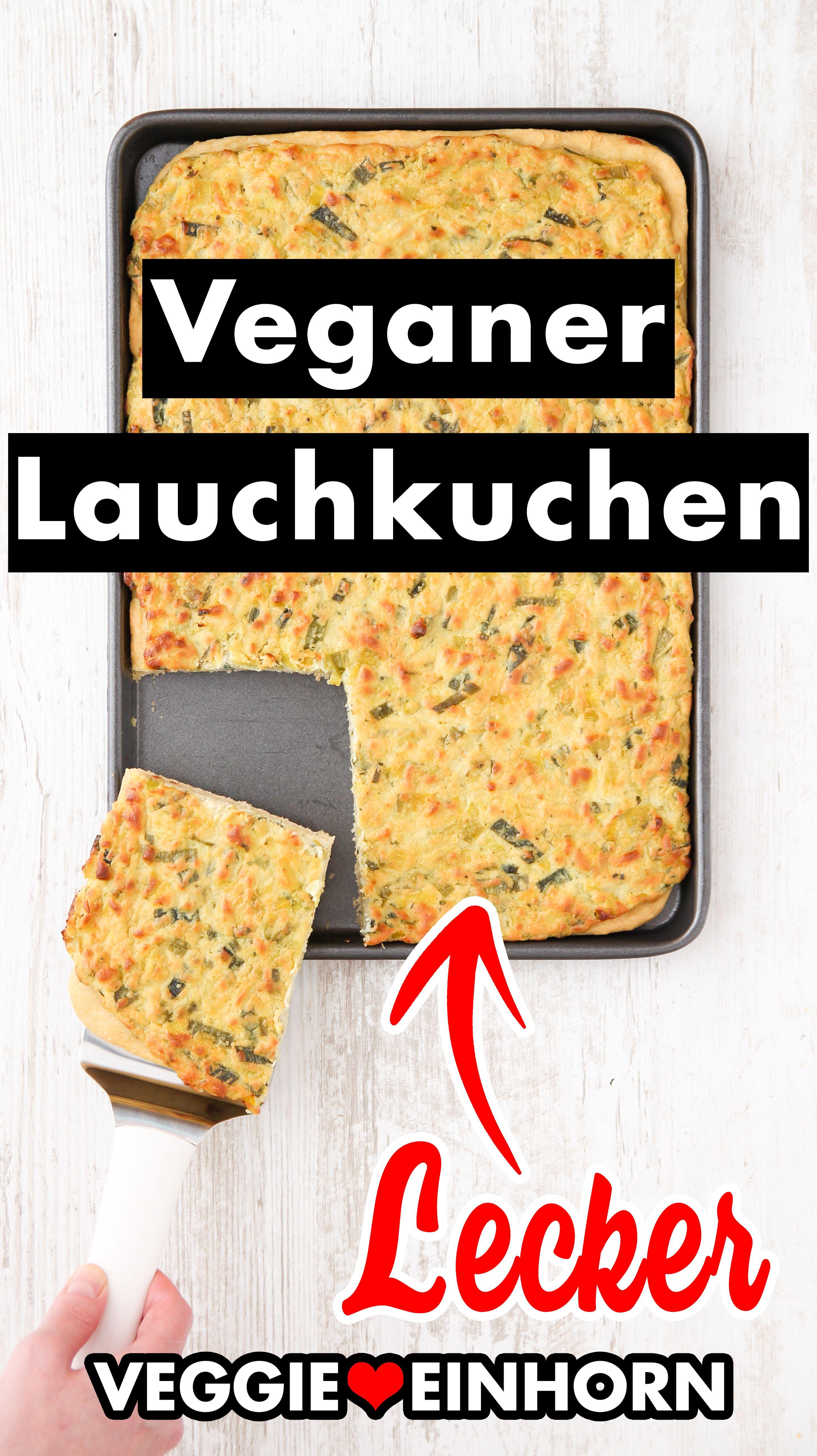 Herzhafter veganer Lauchkuchen vom Blech | Einfacher Hefeteig ohne Ei