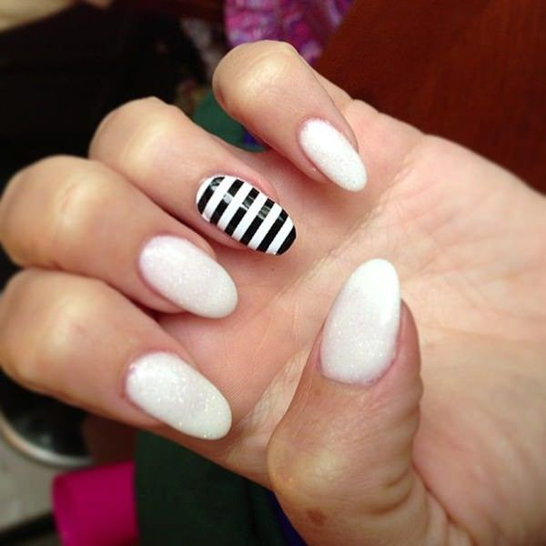 100 Black & White Nails - 100 Black & White Nails White Nail Designs, White Nails And Manicure