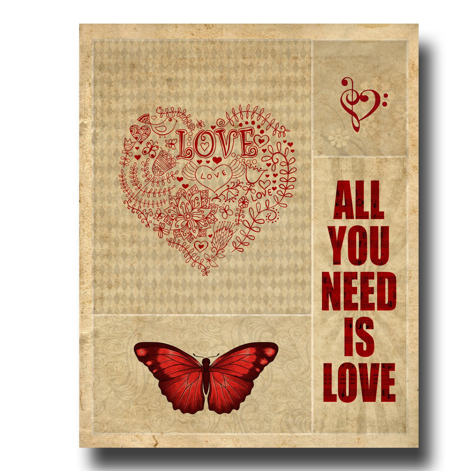 All You Need Is Love | The Beatles | Canvas Art Print | C ...