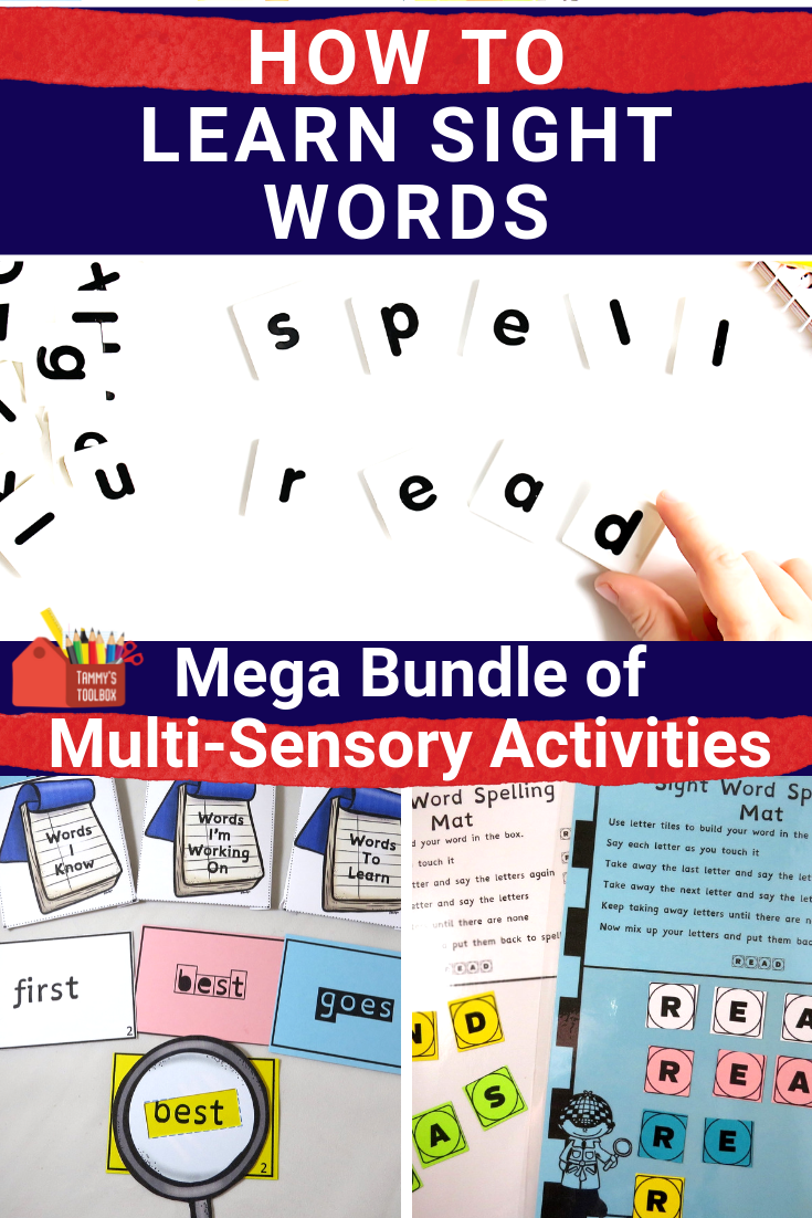 Multi Sensory Games And Activities To Learn Sight Words Third Grade Sight Words Multisensory Activities Multisensory [ 1102 x 735 Pixel ]