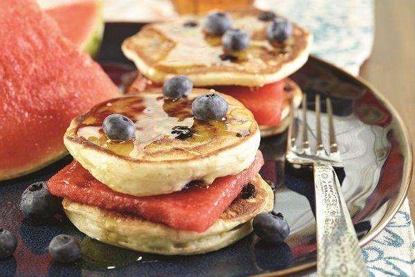 Dairy-Free Fabulous Fruit and Pancake Sandwiches via Go Dairy Free