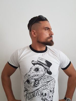 02274515c Marty Scurll Villain print T shirt