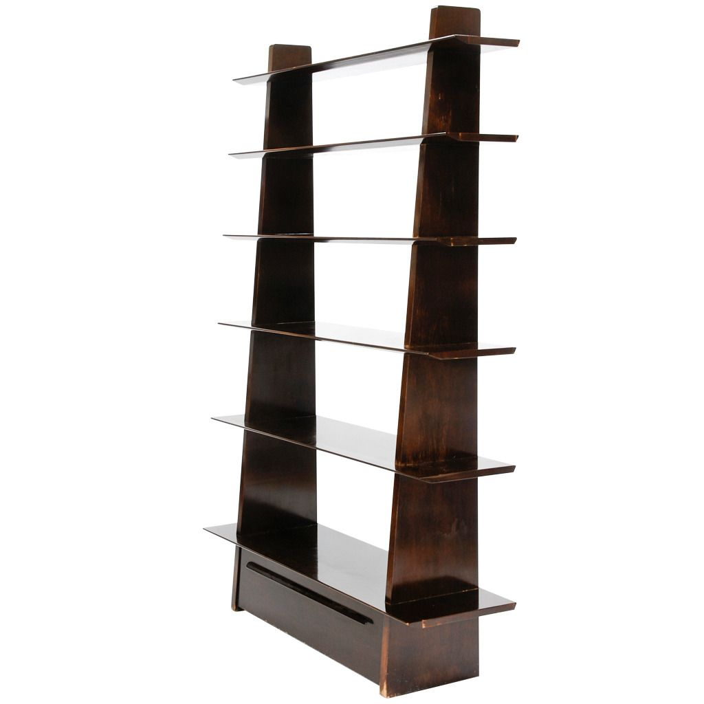 Bookcase Model 5264 by Edward Wormley for Dunbar | From a unique collection of antique and modern bookcases at https://www.1stdibs.com/furniture/storage-case-pieces/bookcases/