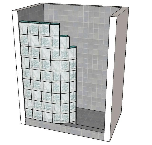 How To Make A Glass Block Shower Wall Google Search