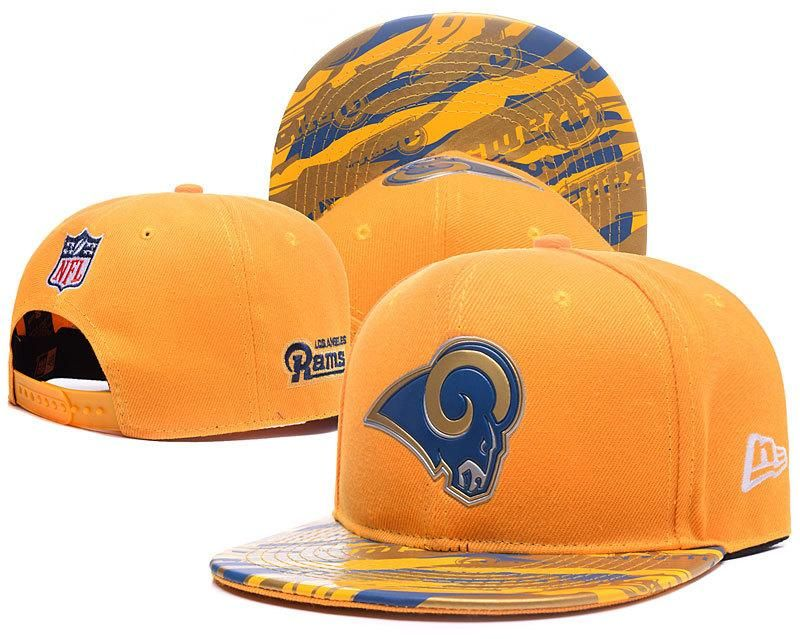 a03fc3dc5 Men s St. Louis Rams New Era Gold Color Liquid Chrome Logo Rush On-Field  Original Fit 9FIFTY Snapback Hat