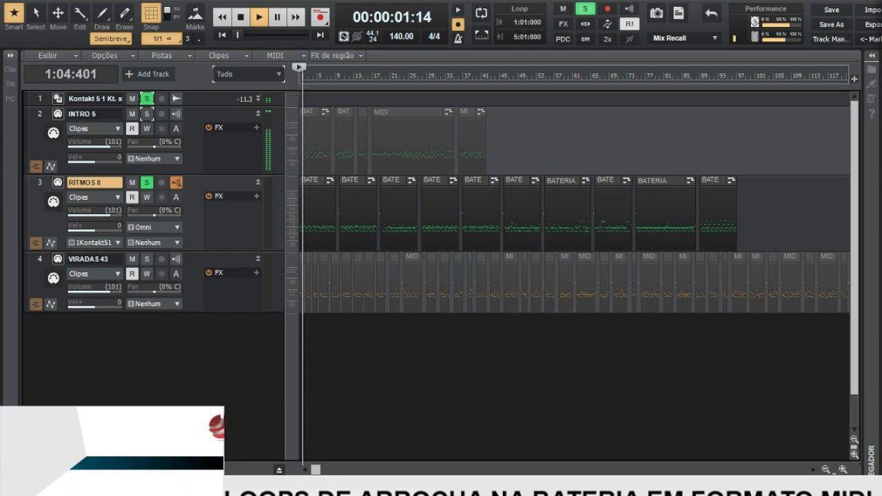 Loops De Arrocha Na Bateria Em Formato Midi Midi Bateria Musical