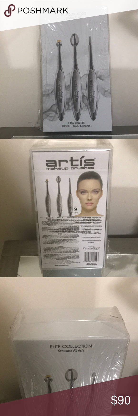 Artís Makeup Brushes Smoke Finish Artis makeup brushes