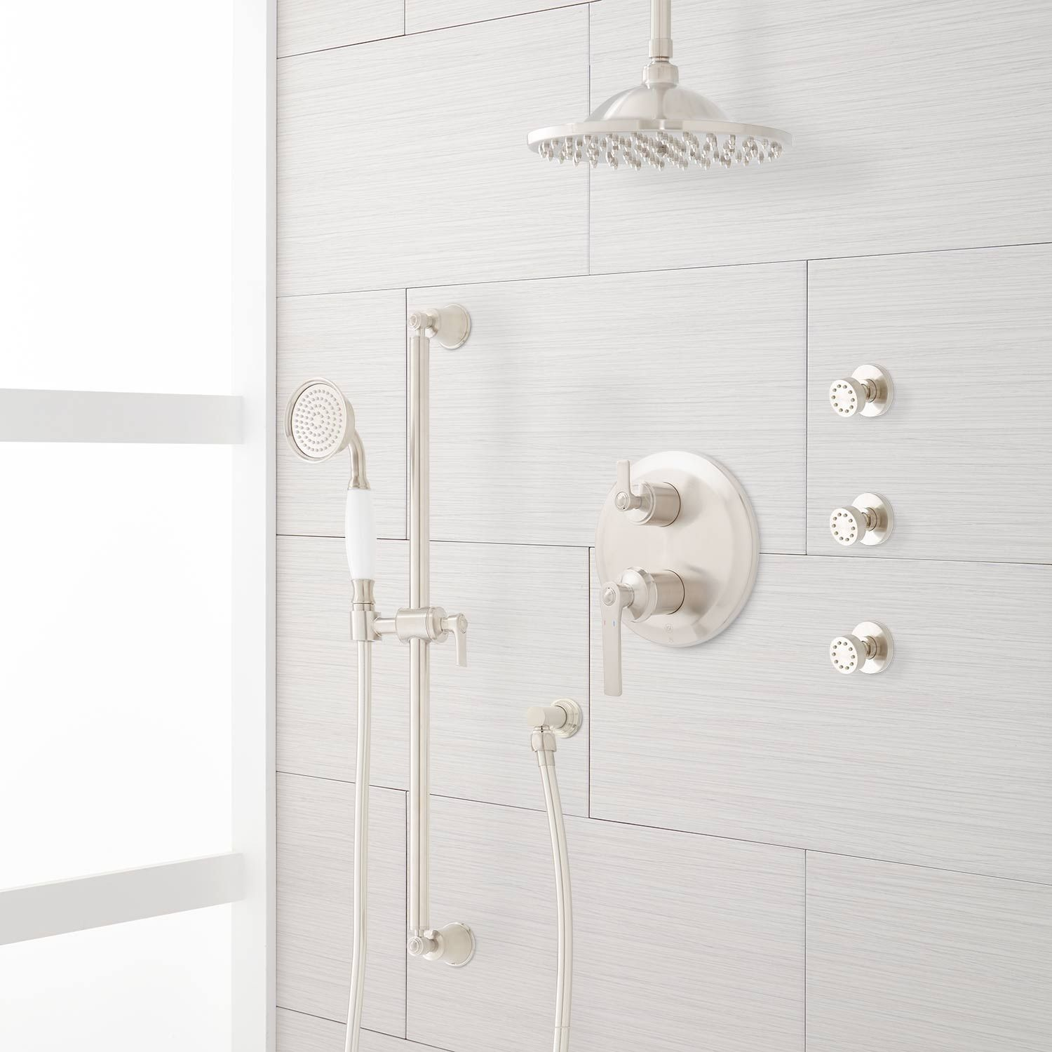 Cooper Pressure Balance Shower System With Rainfall Shower 3 Body