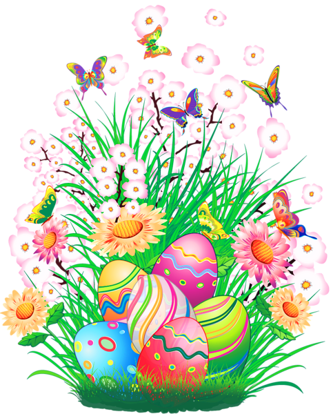 Transparent Easter Decor With Eggs And Grass Png Clipart Picture Easter Pictures Easter Prints Easter Images