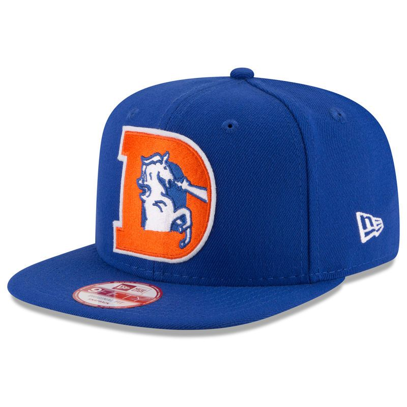 sale retailer 07c73 acf48 Denver Broncos New Era Retro Logo Original Fit 9FIFTY Snapback Adjustable  Hat - Royal
