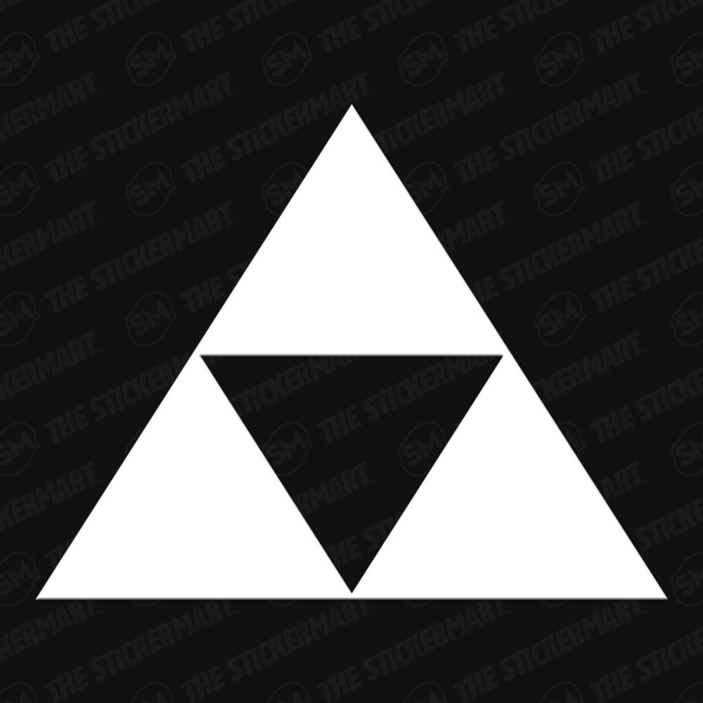 Legend Of Zelda Triforce Logo Vinyl Decal Triforce Legend Of Zelda Triforce Symbol