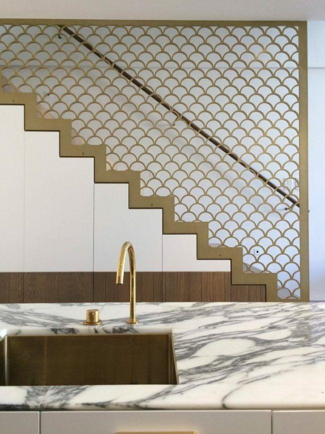 farbe-gold-spüle-arbeitsplatte-edel-marmor | Treppenhaus | Pinterest ...