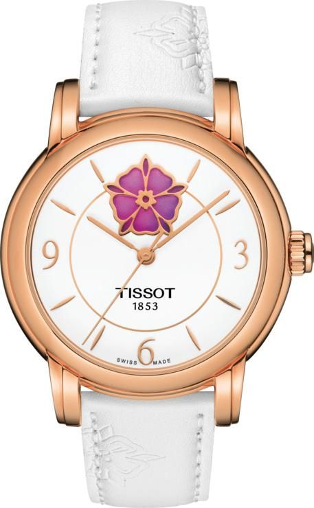 75eab3c1acf Tissot Watch T-Classic Powermatic 80 Heart Flower Ladies  add-content   bezel-fixed  bracelet-strap-leather  brand-tissot  case-depth-9-4mm ...