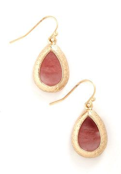 Drop of Rosewater Earrings, #ModCloth