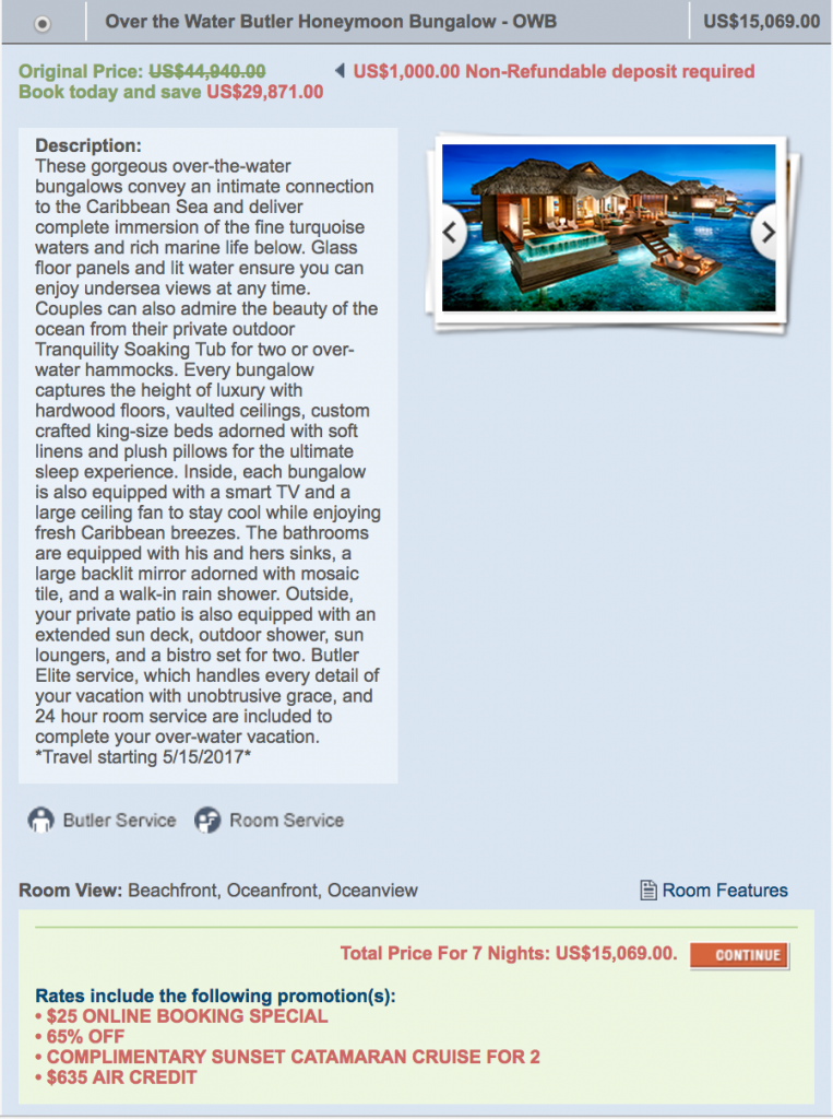 922158d5fdf How much do over water bungalows cost? At Sandals Grande St. Lucian ...