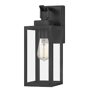 Quoizel Breitling 13 5 In H Matte Black Medium Base E 26 Outdoor Wall Light Lowes Com Outdoor Wall Lighting Wall Lights Outdoor Walls