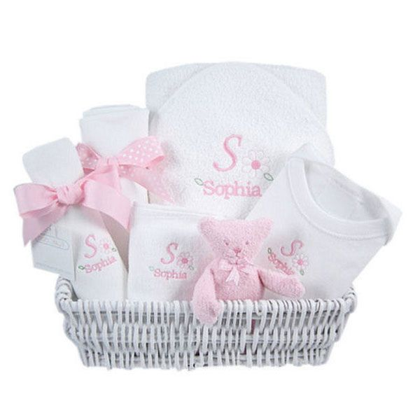 Luxury personalized layette gift basket pink baby cakes gift luxury personalized layette gift basket pink negle Image collections