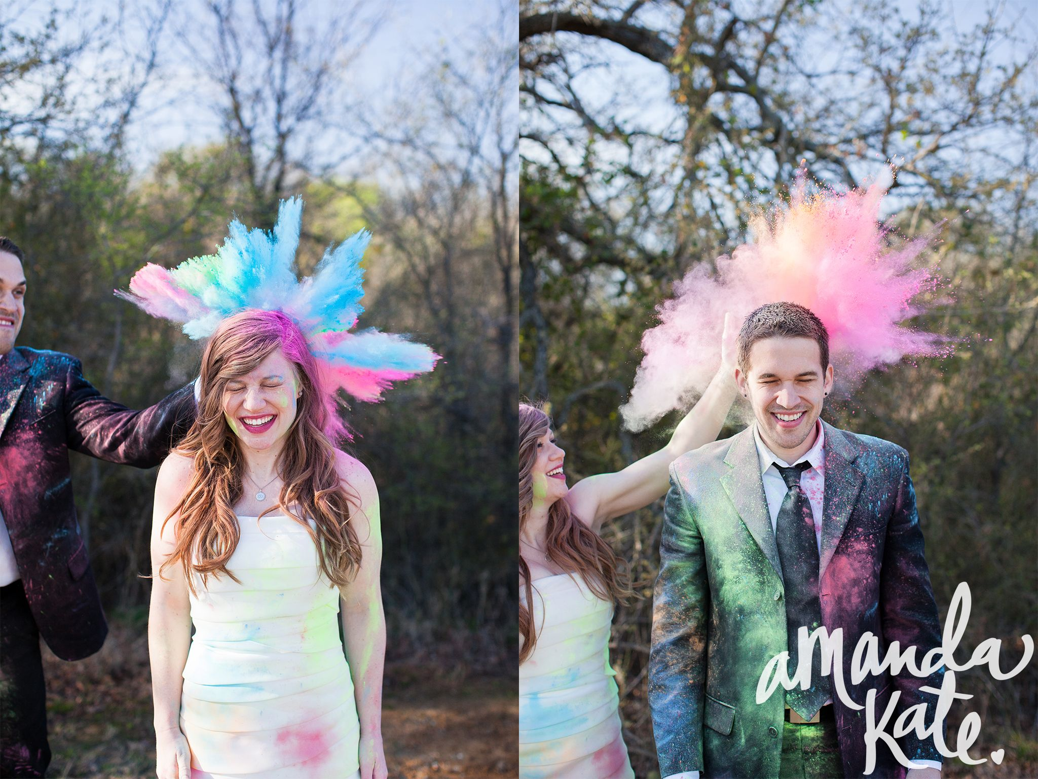 Trash the dress photoshoot ideas | Couple Hoil Themed Prewedding Shoot | Prewedding Shoot + Holi = Unlimited Fun and Candid Moments! Function Mania