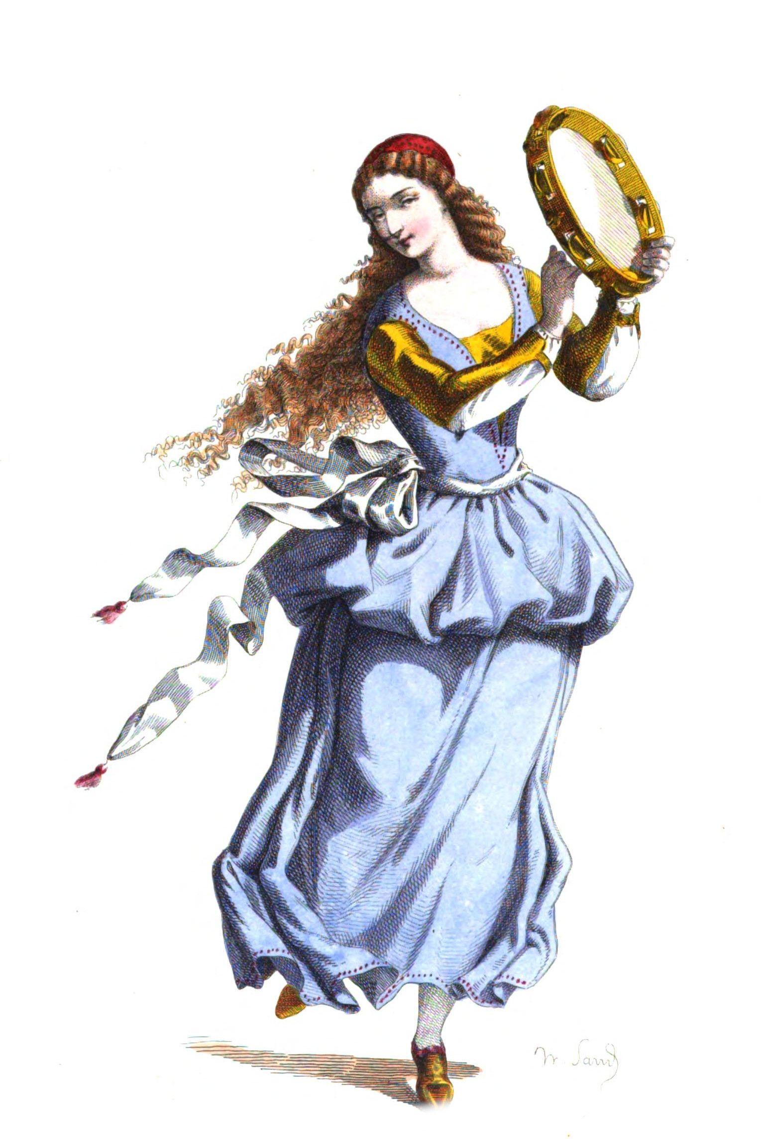 La Ballerine Au Tambourin L Art De La Danse Est Intimement Lie A Celui De La Musique Et Du Theatre Et Surtout De La Pantomime Num Pantomime Art Bouffon