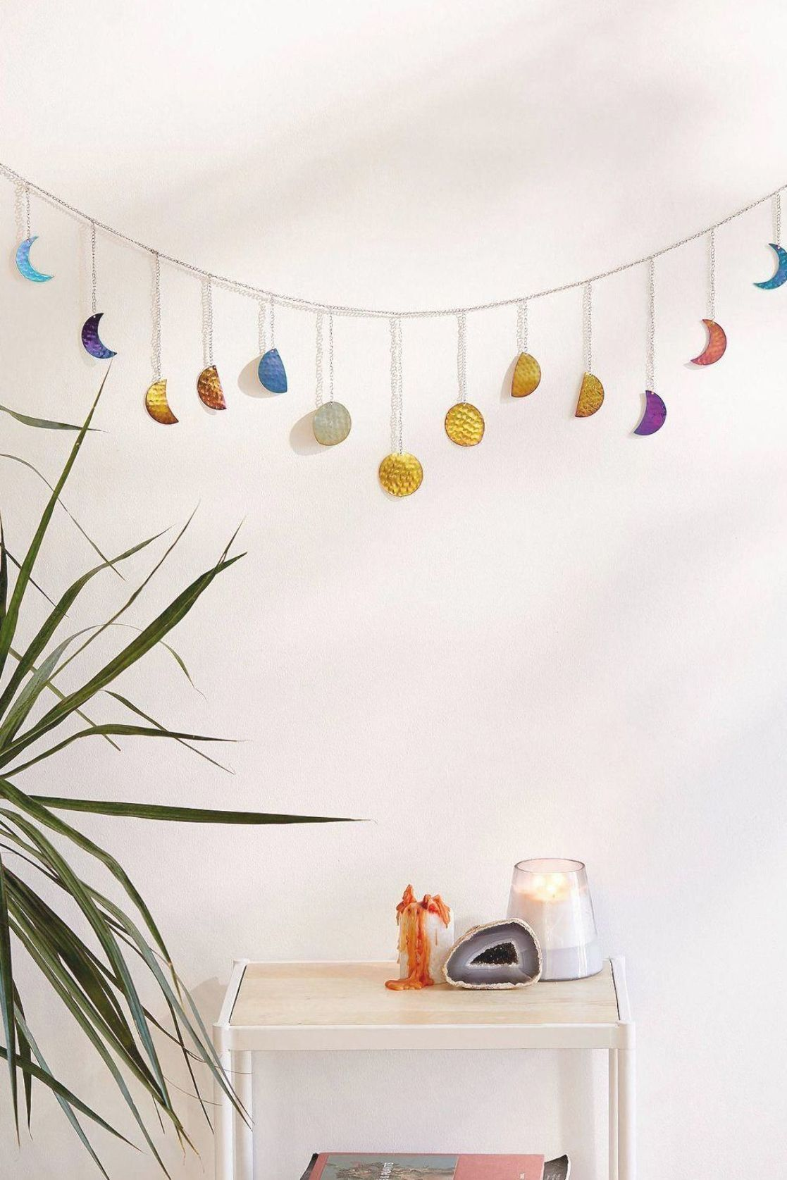 Hammered Metal Moon Cycle Banner   Urban Outfitters #roomdecorideas