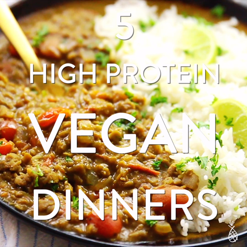 These are my five favourite recipes for High Protein Vegan Dinners