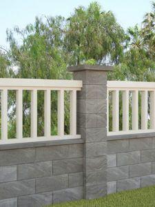 Hollow Concrete Block For Pillars Socket Weld Cercas