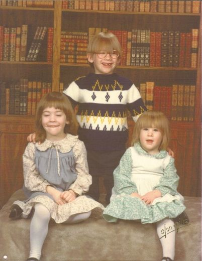 They almost had it. Awkward family photos