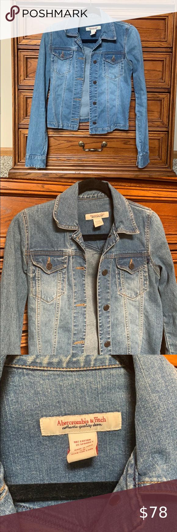 Vintage Abercrombie Fitch Denim Jacket Denim Jacket Clothes Design Fashion Design