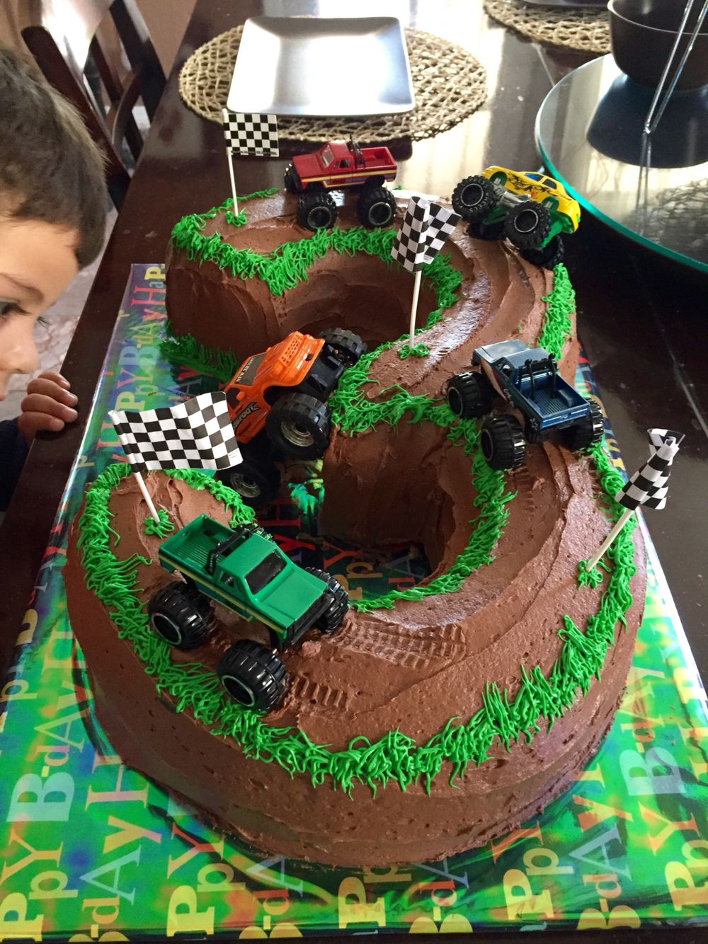 Monster Truck Cake 3 Years Old With Images Truck Birthday