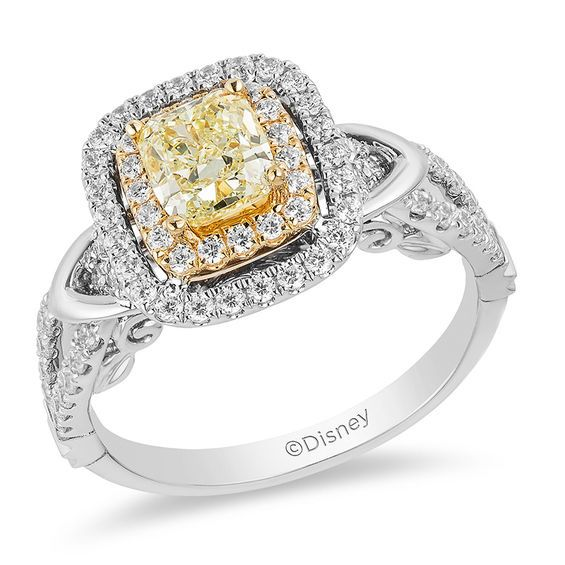 56bf072aa35b3 Enchanted Disney Belle Special Edition 1-1/5 CT. T.w. Yellow Diamond ...