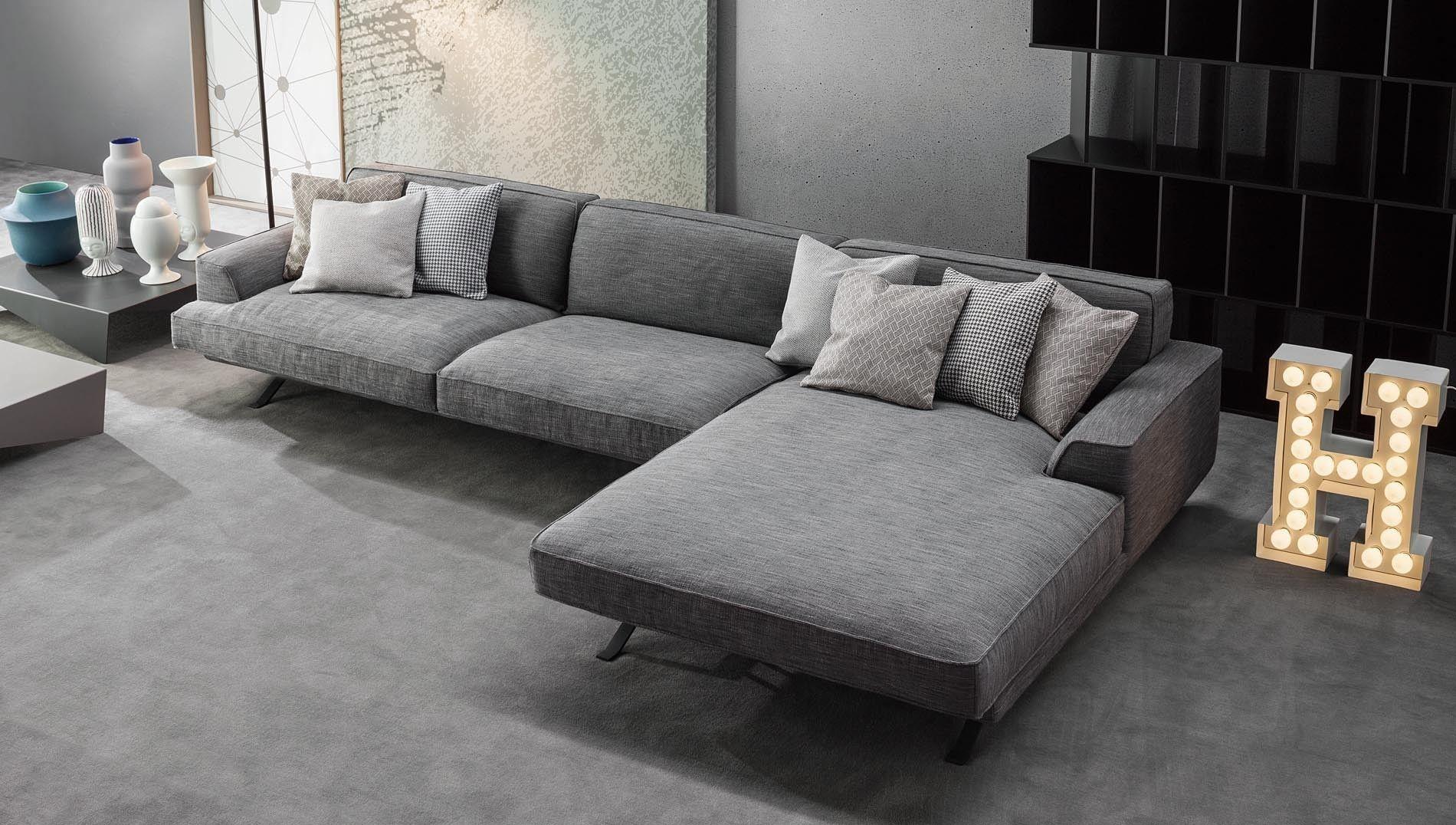 Bonaldo Slab Corner Sofa Buy Online At Luxdeco Sofa Design Contemporary Sofa Large Sofa