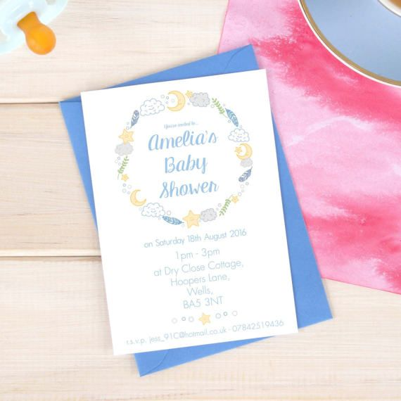 Personalised Baby Shower Invitation Pack A6