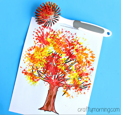 Fall crafts for kids, so Simply and Beatiful - goingtotehran #fallcraftsfortoddlers