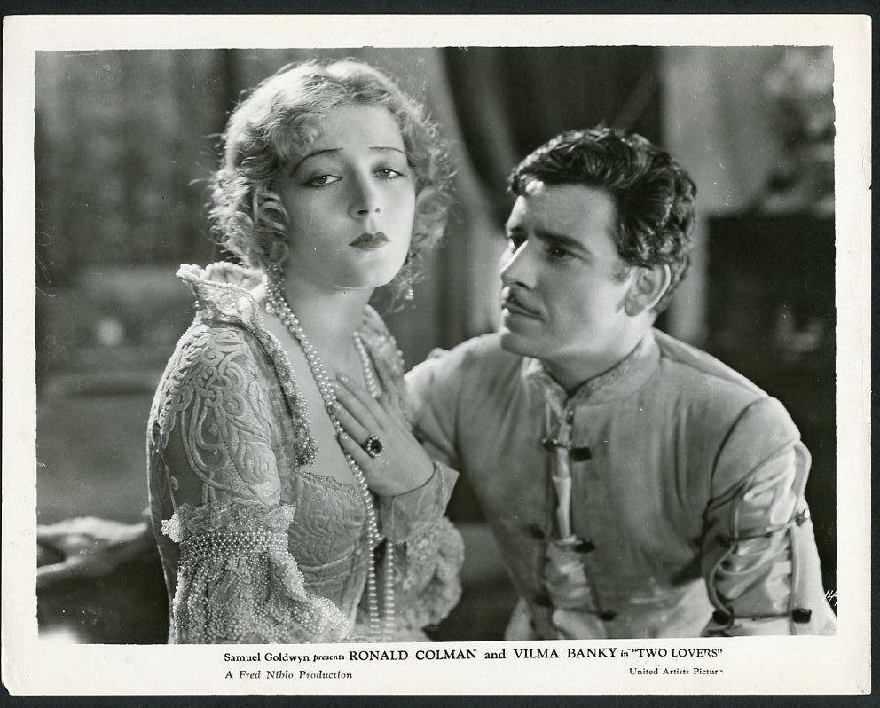 Vilma Banky Ronald Colman Romantic Original Vintage 1928 Photo