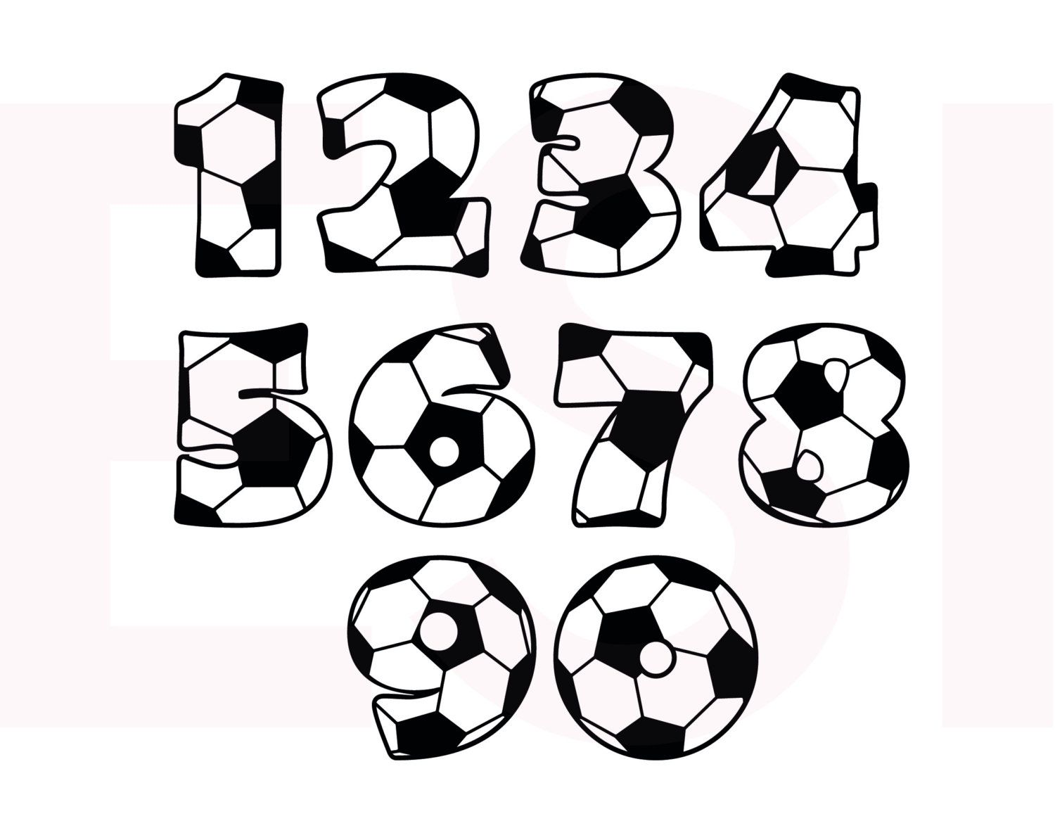 Soccer SVG DXF EPS cutting files for use in por