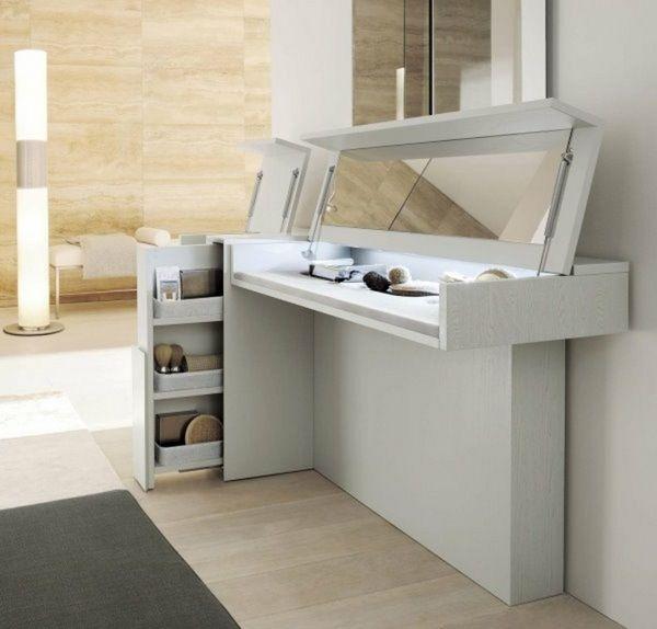 coiffeuse avec miroir de repliement originale cuisines pinterest coiffeuses avec miroir. Black Bedroom Furniture Sets. Home Design Ideas