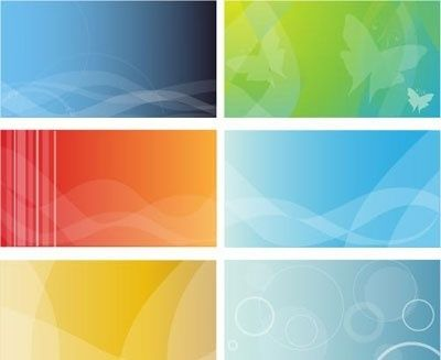 Backgrounds Business Cards Free Vector