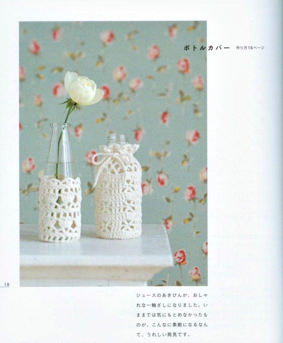 Patrones para Crochet: Fundas de Crochet para Botellas   uncinetto ...