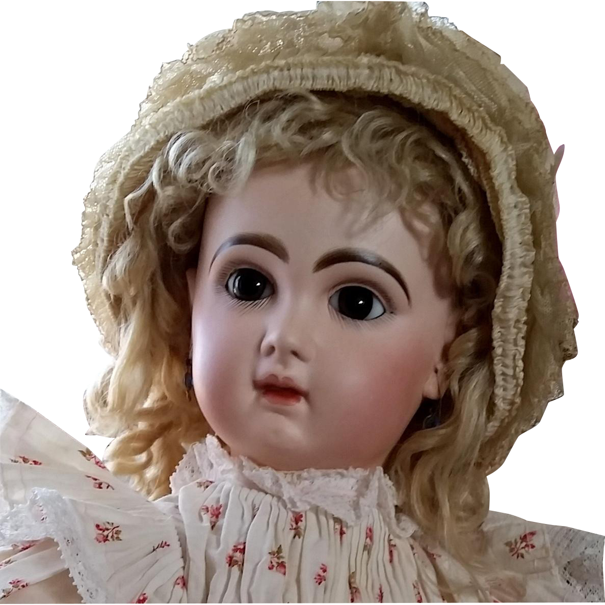 """Superb Factory Original Closed Mouth 24"""" Tete Jumeau with Signed Shoes from aunt-janies-doll-trunk on Ruby Lane"""
