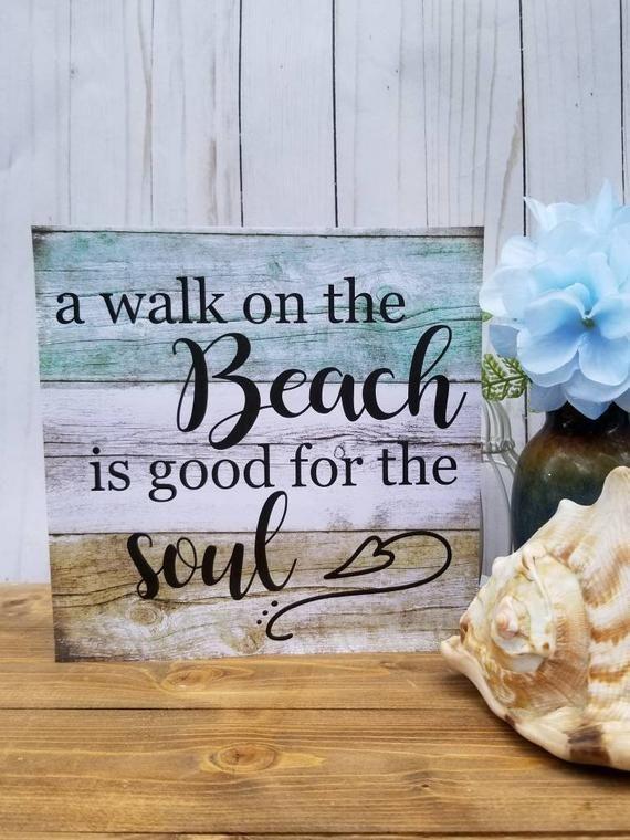 Wooden Beach Signs Beach Decor Beach House Sign Beach House