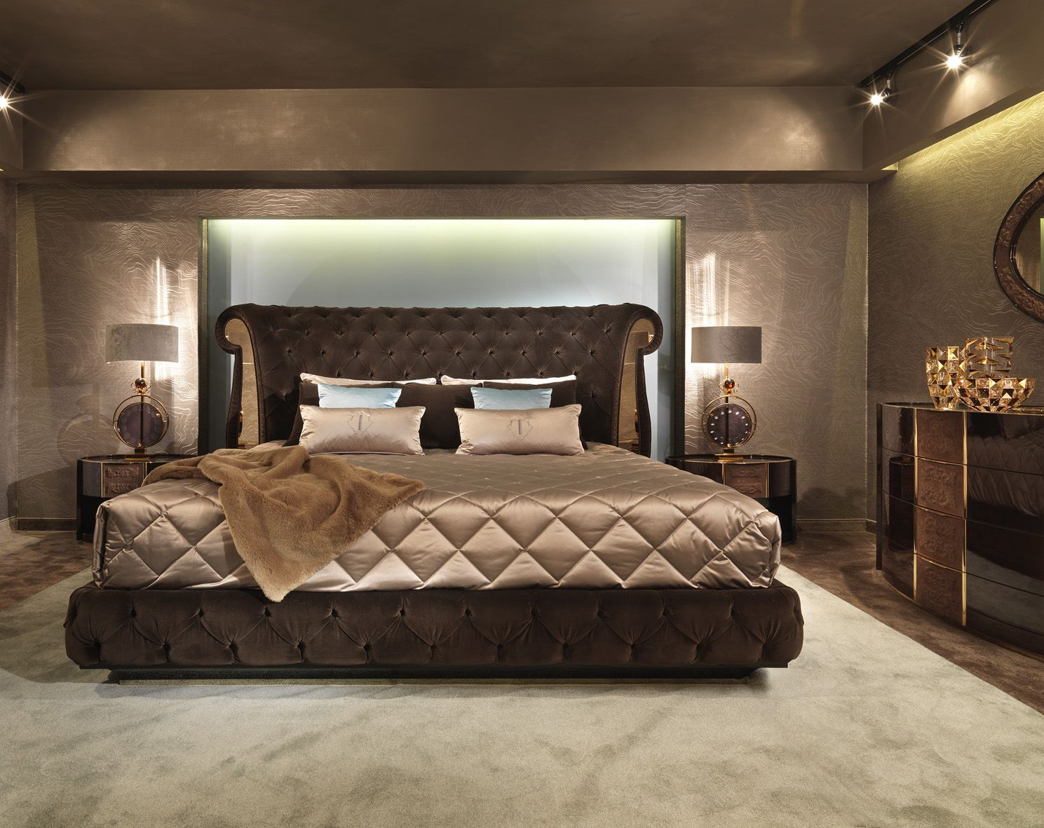 Couture bedroom turri italian luxury bed 双人床 pinterest