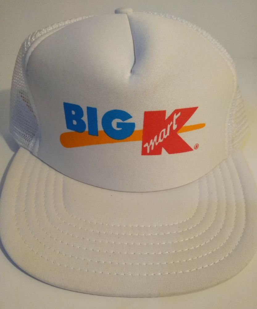 7b51077490e54 Vintage Mesh Trucker Hat - Kmart Snapback - White - Mesh -Breathable-  Oringal  fashion  clothing  shoes  accessories  mensaccessories  hats (ebay  link)