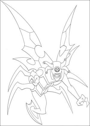 Ben 10 Coloring Page 23