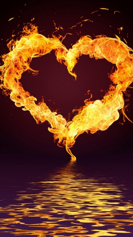 4k Ultra Hd Wallpapers Fire Heart Heart Wallpaper Fire Art