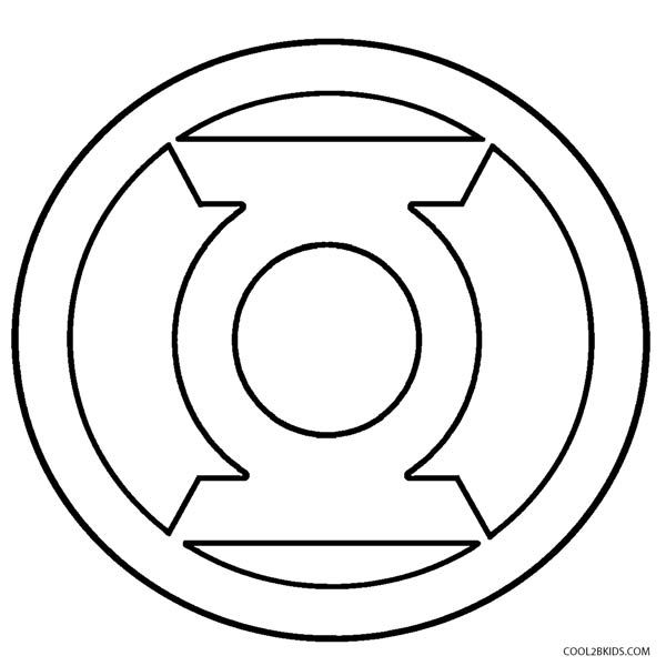 Green Lantern Coloring Pages Green Lantern Logo Green Lantern