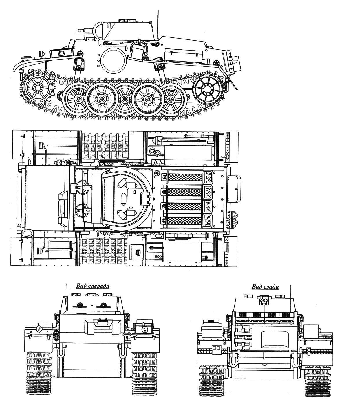 Немецкие танки времен Второй мировой войны. Немецкий пехотный штурмовой танк Pz I Ausf F