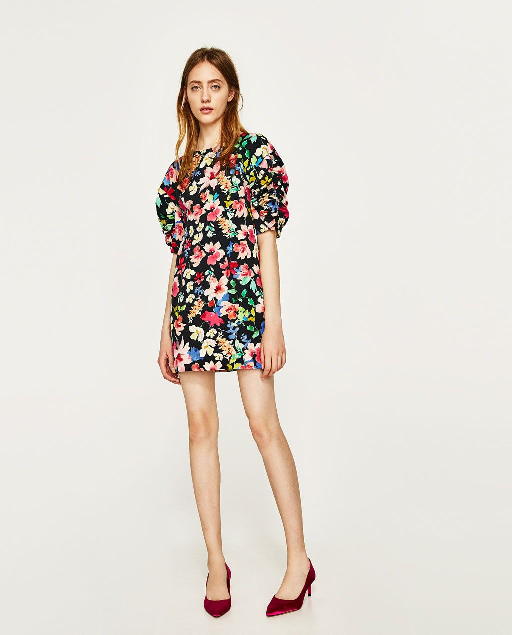 Mujer Mujer Zara Flores Vestido Mujer Flores Flores Vestido Vestido Zara Zara q16S86