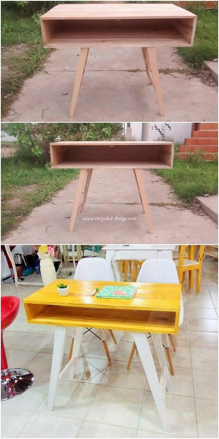 When it comes to the wood pallet use for some home furniture ideas