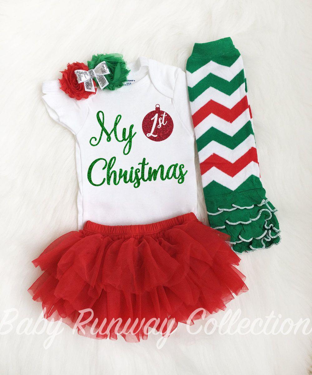 04bd6492c Mi primera Navidad Body bebe Navidad Body por BabyRunwayCollection ...