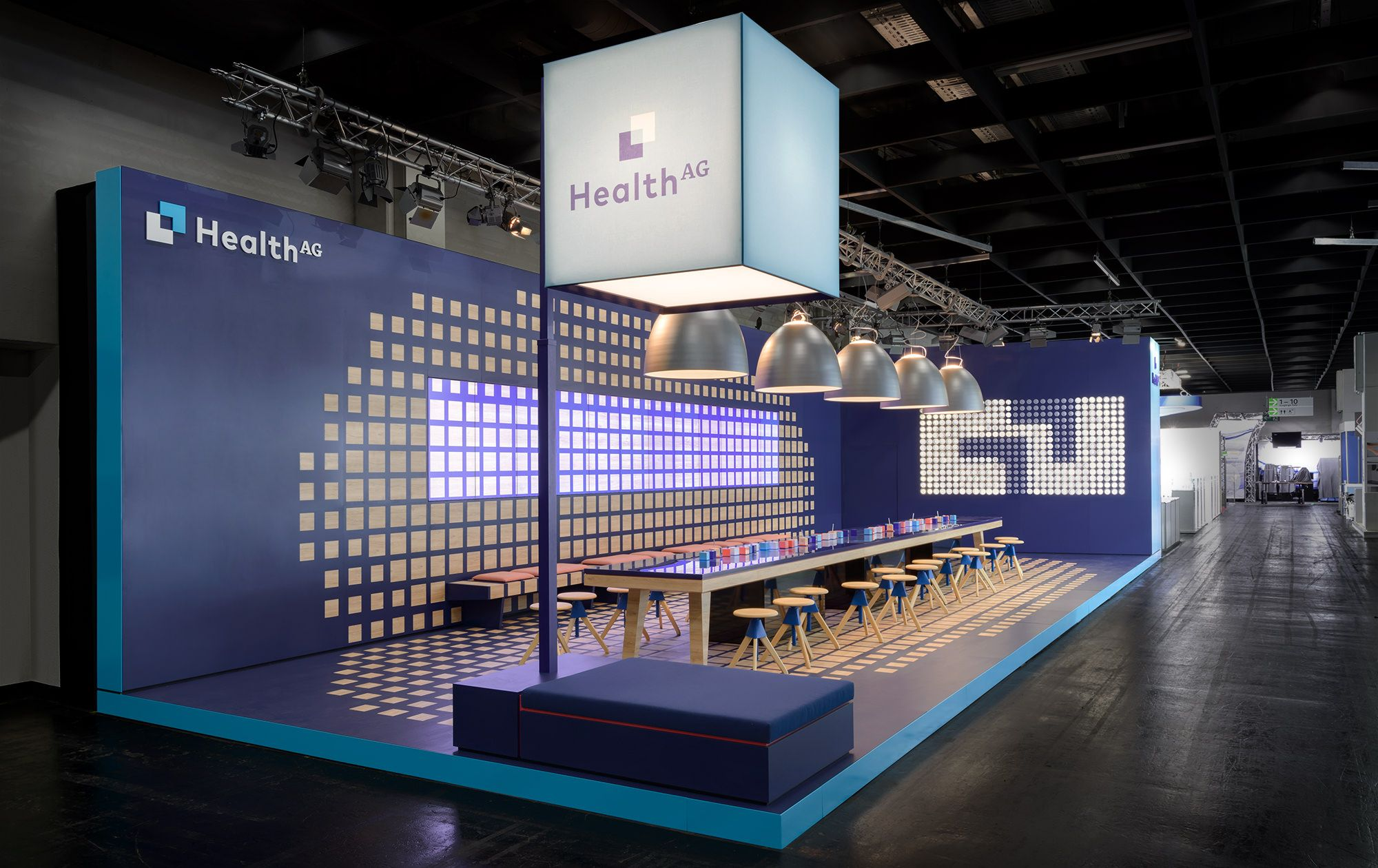 Health Ag Ids Cologne Messestand 2017 With Images Exibition Design Exhibition Stand Design Booth Design